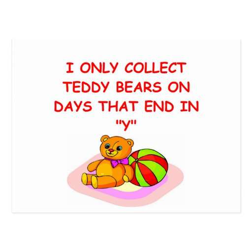 teddy bear collector post cards