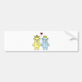 teddy bear couple bumper sticker