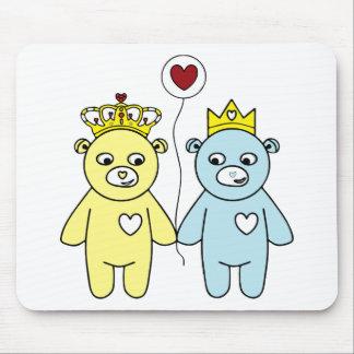 teddy bear couple mouse pad