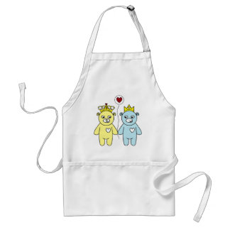 teddy bear couple standard apron