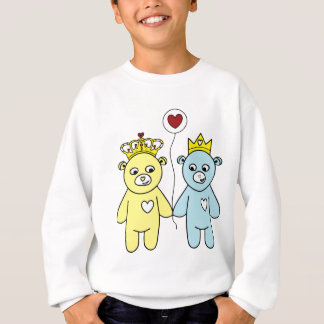 teddy bear couple sweatshirt