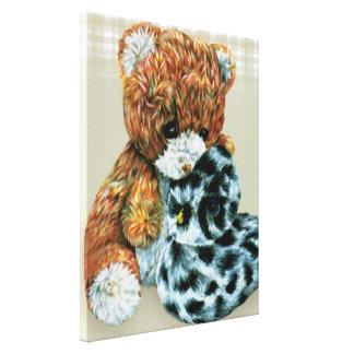 Teddy bear cuddles canvas wrap print gallery wrap canvas