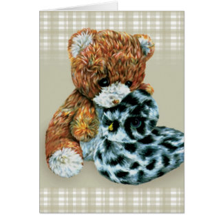 Teddy bear cuddles card
