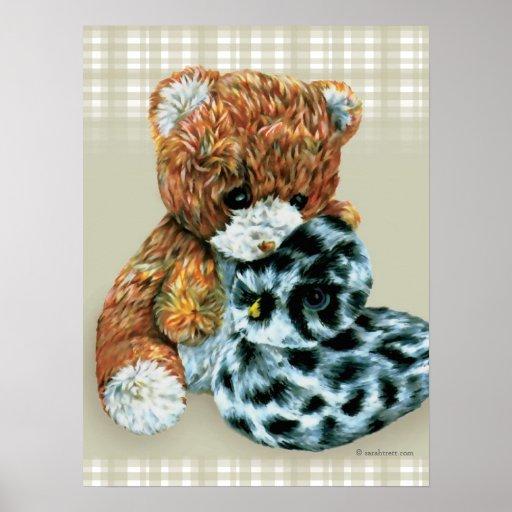 Teddy bear cuddles  print