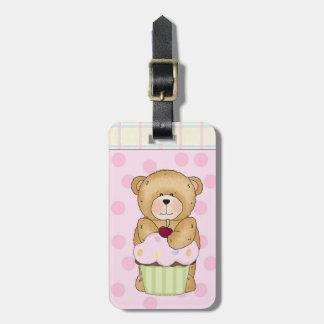 Teddy Bear Cupcake Party Luggage Tag
