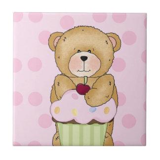 Teddy Bear Cupcake Party Tiles