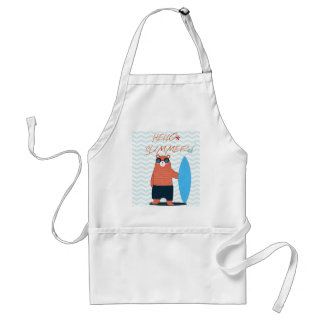 Teddy bear cute adorable beach funny theme standard apron