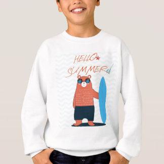 Teddy bear cute adorable beach funny theme sweatshirt