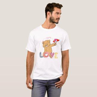 Teddy Bear Dab Dabbing Valentine's Day Heart Shirt