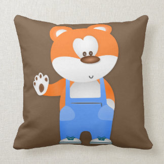 Teddy Bear Decorative Accent Throw Pillow for Kids