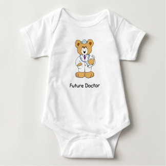 Teddy Bear Doctor Baby Bodysuit