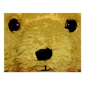Teddy Bear Face Print