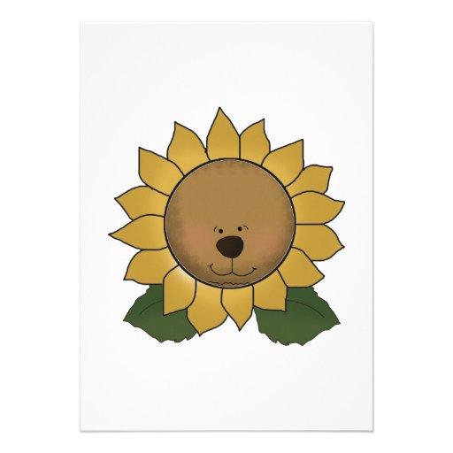 Teddy Bear Face Sunflower Announcements