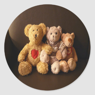 Teddy Bear Family Classic Round Sticker
