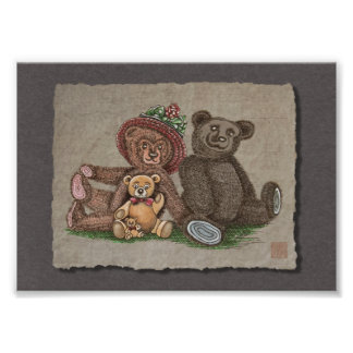 Teddy Bear Family Photo Print