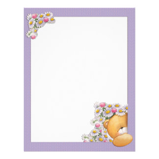 Teddy Bear Flowers Letterhead