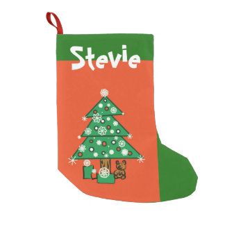 Teddy Bear for You Small Christmas Stocking