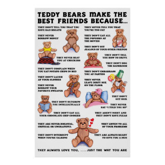 Teddy Bear Friends Poster
