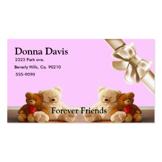 Teddy Bear Friends Set Business Card Templates