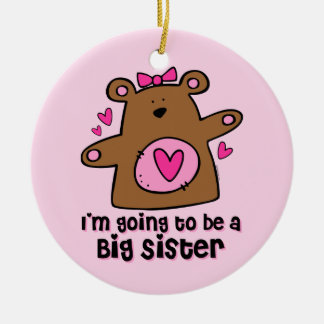 Teddy Bear Future Big Sister Ornament