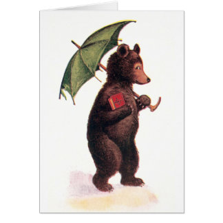 Teddy Bear Goes to Church Greeting Card