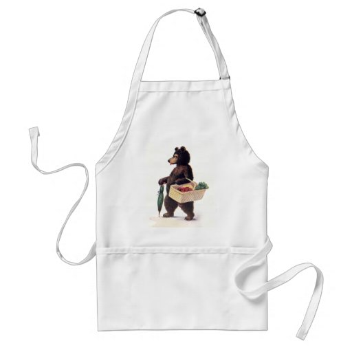 Teddy Bear Goes to Market Aprons