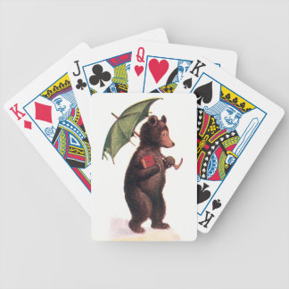 Teddy Bear Going to Church Bicycle Poker Deck