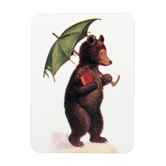 Teddy Bear Going to Church Rectangular Photo Magnet