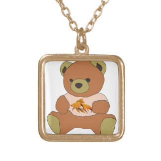 Teddy Bear Gold Plated Necklace
