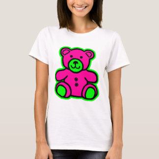 Teddy Bear Green Magenta The MUSEUM Zazzle Gifts T-Shirt