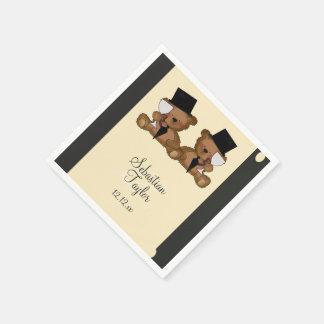 Teddy Bear Grooms Wedding Disposable Napkins