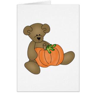 Teddy Bear Halloween Card