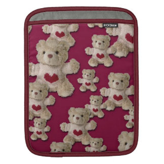 Teddy Bear Heart iPad Sleeve