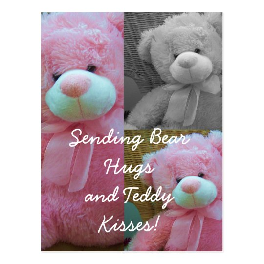 Teddy bear hugs Postcard