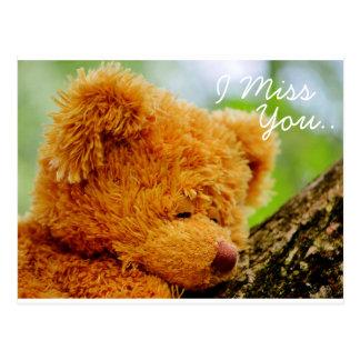 Teddy Bear I Miss You Postcard