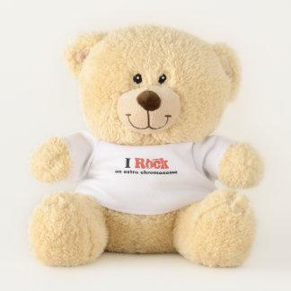 """Teddy bear """"I rock an extra chromosome"""""""
