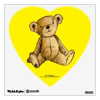 Teddy Bear image for Heart-Wall-Decals Wall Sticker
