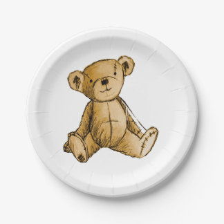 Teddy Bear image for Paper-Plates 7 Inch Paper Plate