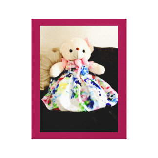 Teddy Bear in a Dress Canvas Print