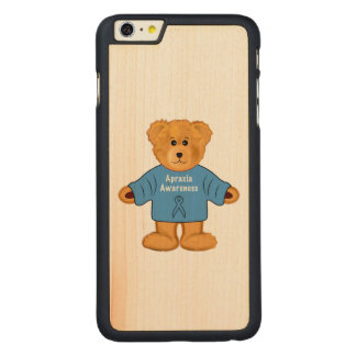 Teddy Bear in Apraxia Awareness Sweater Carved® Maple iPhone 6 Plus Case