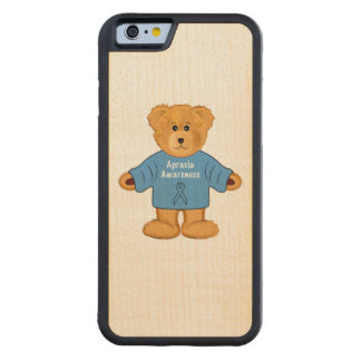 Teddy Bear in Apraxia Awareness Sweater Maple iPhone 6 Bumper