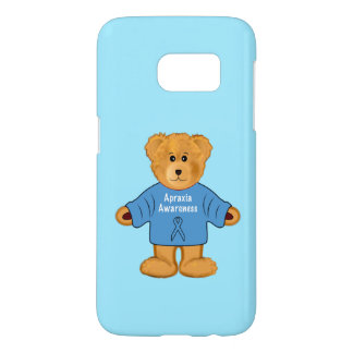 Teddy Bear in Apraxia Awareness Sweater Samsung Galaxy S7 Case