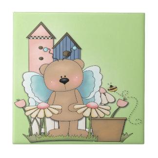 Teddy Bear in Garden Tiles