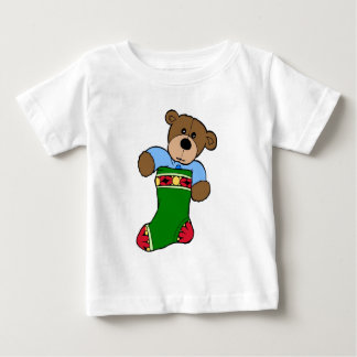 Teddy Bear in Stocking - Infant T-Shirt