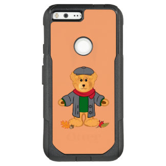 Teddy Bear in the Fall Leaves OtterBox Commuter Google Pixel XL Case
