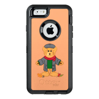 Teddy Bear in the Fall Leaves OtterBox Defender iPhone Case