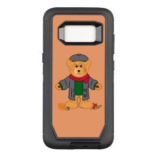 Teddy Bear in the Fall Leaves OtterBox Defender Samsung Galaxy S8 Case