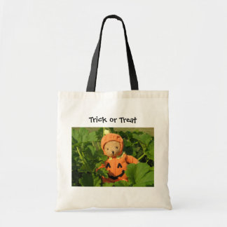 Teddy Bear in the Pumpkin Patch