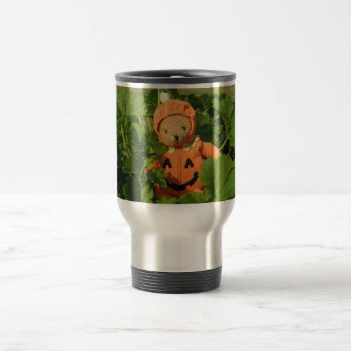 Teddy Bear in the Pumpkin Patch Mugs
