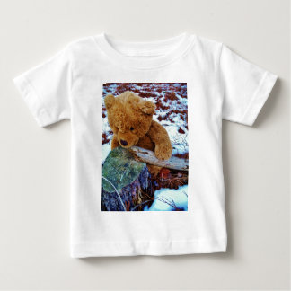 Teddy Bear in the Snow Baby T-Shirt